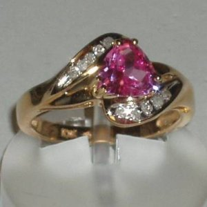 1.1 Carat Ruby & Diamond Ring