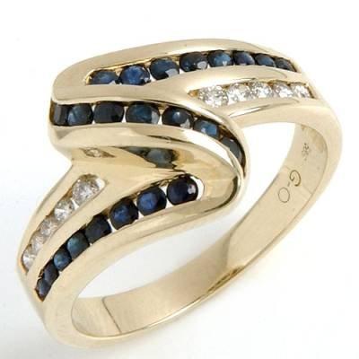 1.1 Carat Sapphire & Diamond Ring