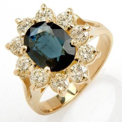 2.64 Carat Sapphire & Diamond Ring