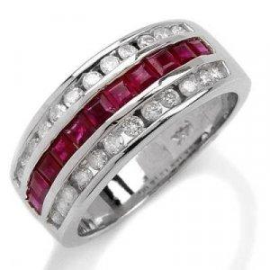1.38 Carat Ruby & Diamond Ring