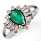 1.38 Carat Emerald & Diamond Ring