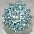 4.4 Carat Aquamarine & Topaz Ring