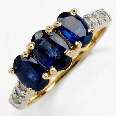 2.39 Carat Sapphire & Diamond Ring