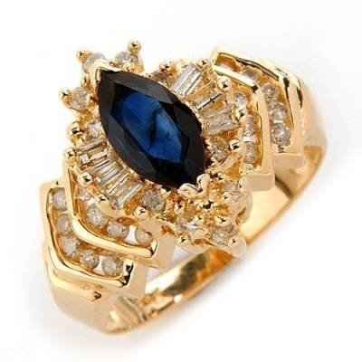 1.22 Carat Sapphire & Diamond Ring