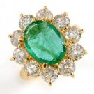 6.65 Carat Emerald & Diamond Ring
