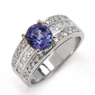 2.21 Carat Tanzanite & Diamond Ring