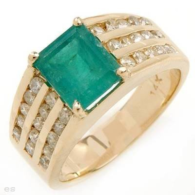 2.35 Carat Emerald & Diamond Ring