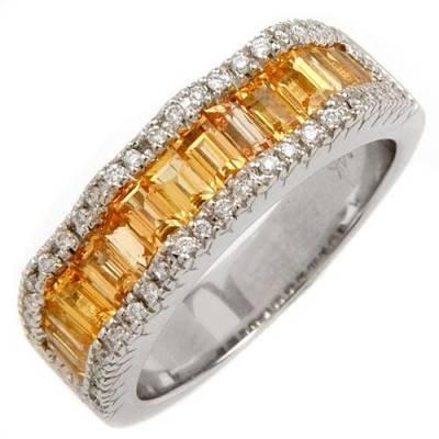 2.4 Carat Yellow Sapphire & Diamond Ring