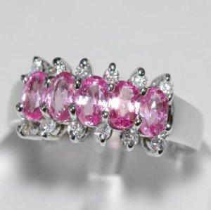 1.8 Carat Pink Sapphire & Diamond Ring