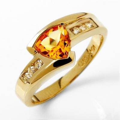 1.12 Carat Citrine & Diamond Ring
