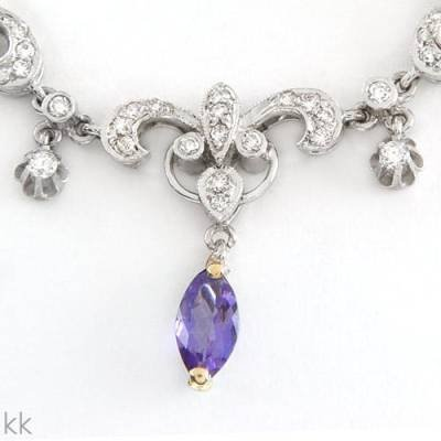 4.41 Carat Tanzanite & Diamond Necklace