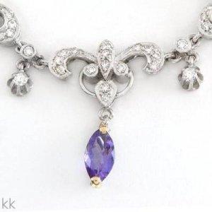 4.41 Carat Tanzanite & Diamond Necklace