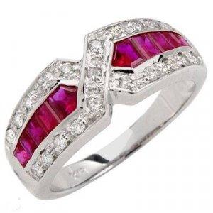 2.26 Carat Ruby & Diamond Ring