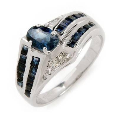1.66 Carat Sapphire & Diamond Ring