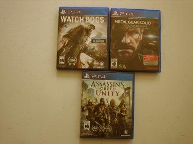 Metal Gear Solid V, Watchdogs, Assassin's Creed Bundle