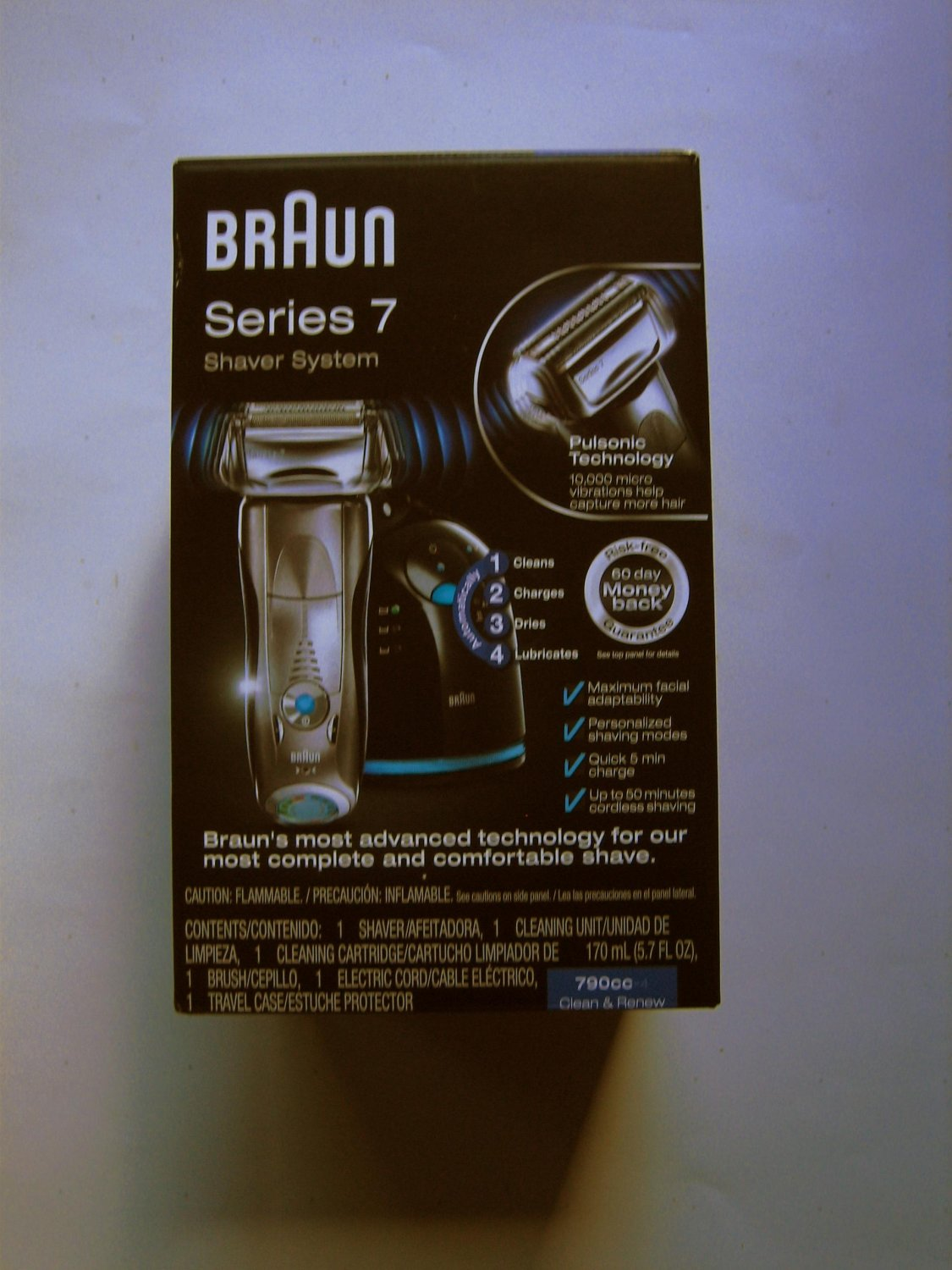 Braun Series 7 790cc-4 Electric Foil Shaver for Men with Clean and Charge Station