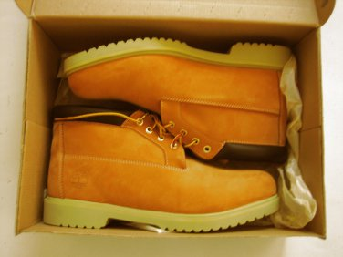 New Timberland Mens 50061 Waterproof Chukka Casual Boots / Shoes Nubuck Wheat / Tan