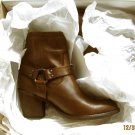 NEW FRYE LADIES TABITHA HARNESS SHORT BOOT cognac   size 9.5