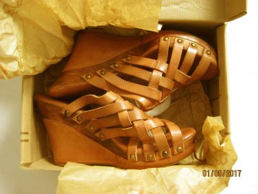 New Bed Stu Women's Gina Leather Platform Heel Sandals Size 11