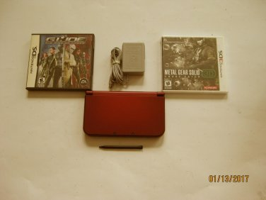 Red Nintendo New 3ds xl 10.7 firmware w Metal Gear Solid  & More!!!