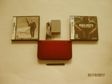 Red Nintendo New 3ds xl w Call of Duty Black Ops & More!!!
