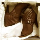New Sigerson Morrison  Womens Myla Red Leather Booties Shoes 9 Medium  & More!!