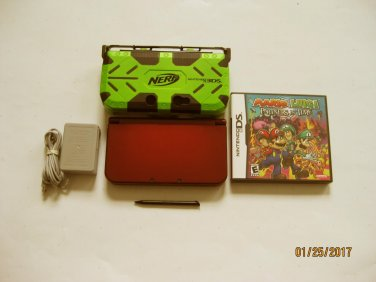 Red Nintendo New 3ds xl w Partners In Time  & More!!!