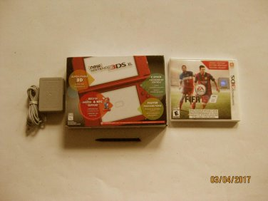 Red Nintendo New 3ds xl  w FIFA 15  & More!!!