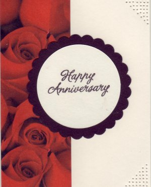 Red Roses Anniversary Card