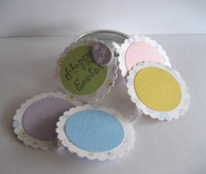 Easter Scrapbook in a Tin