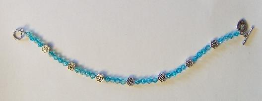 Flower Bracelet: Blue
