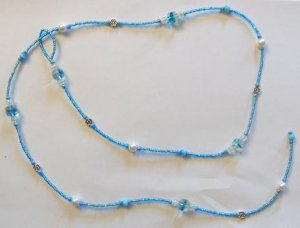 String Through Necklace: Blue