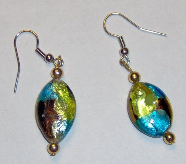 Glass foil earrings