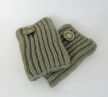 Knit Boot Cuffs With Button Boot Socks Boot Topper Leg