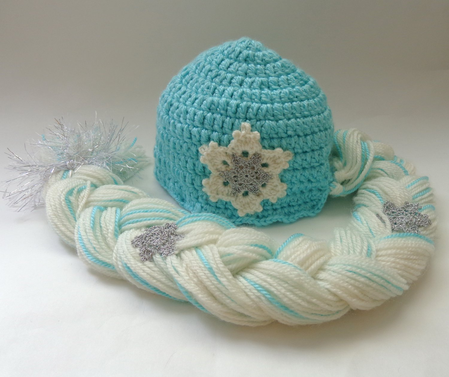 Elsa Frozen Crochet Hat With Snowflake Flower Disney Princess