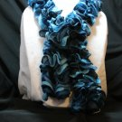 Carolina Blue and Navy Blue Twist and Twirl Scarf Neck Warmer