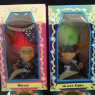 Rare Trollkins Way Dolls - Halloween Wizard and Masked Rider in Boxed Houses