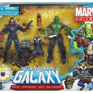 Guardian Of The Galaxy Starlord, Rocket Raccoon & Drax with Groot Marvel Universe Action Figure