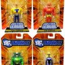 Justice Guild DC Universe JLU (Green Guardsman, Black Siren, Tom Turbine & Streak!) Action Figures