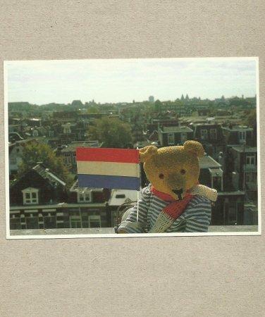THE TEDDIES POSTCARD COLLECTION BEER TEDDY MIRJA DE VRIES AMSTERDAM