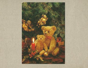 CHRISTMAS TEDDY BEARS POSTCARD FROM AMSTERDAM 1992