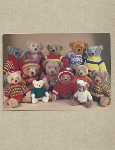 TEDDY BEAR POSTCARD SHOWING BEARS FROM STEIFF HERMANN AND GRAHAM GRIDLEY