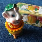 ELLIE THE ELEPHANT STACKING SALT AND PEPPER SHAKERS CRUET SET IN GREEN