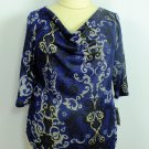 NEW Style & Co. Sparkling Drape Neck PLUS SIZE Clothing TOP BLOUSE 0X 14W 16W