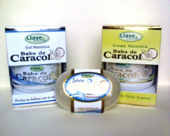 Pack Baba de Caracol (Crema + Gel + Jabon)