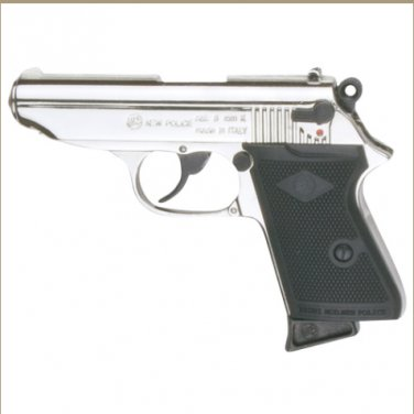 Replica James Bond Style Nickel Finish 8MM Blank Firing Automatic Gun