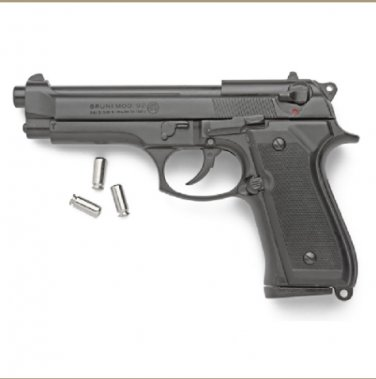 Replica M92 Semi Automatic Blank Firing Gun Blued Finish