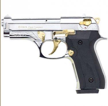 Firat Compac 92 Blank Firing Replica Gun Nickel/Gold Engraved