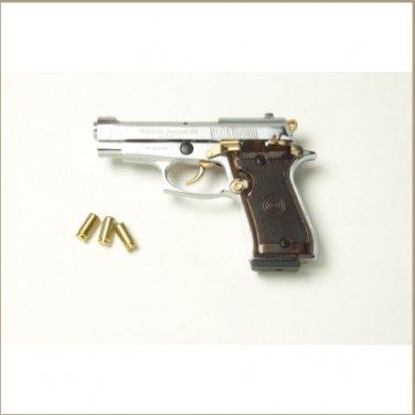 Special 99 V85 Blank Firing Gun Nickel-Gold Finish