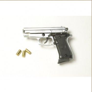 P29 Semi Automatic Blank Firing Pistol Nickel Finish
